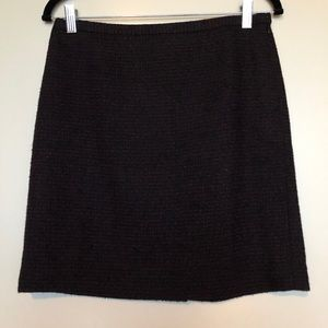 Black/wine tweed skirt